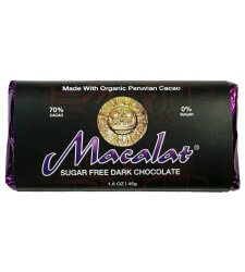 MACALAT Organic Peruvian Cacao Bar with Maca Superfood (sugar free!)